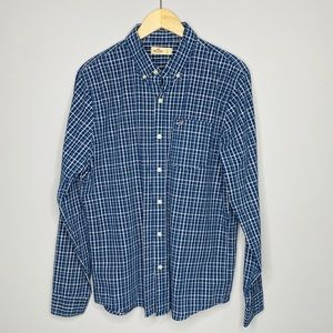 Hollister plaid button down shirt